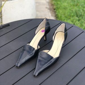 KATE SPADE ♠️ LOTUS BLACK LEATHER POINTY TOES 8